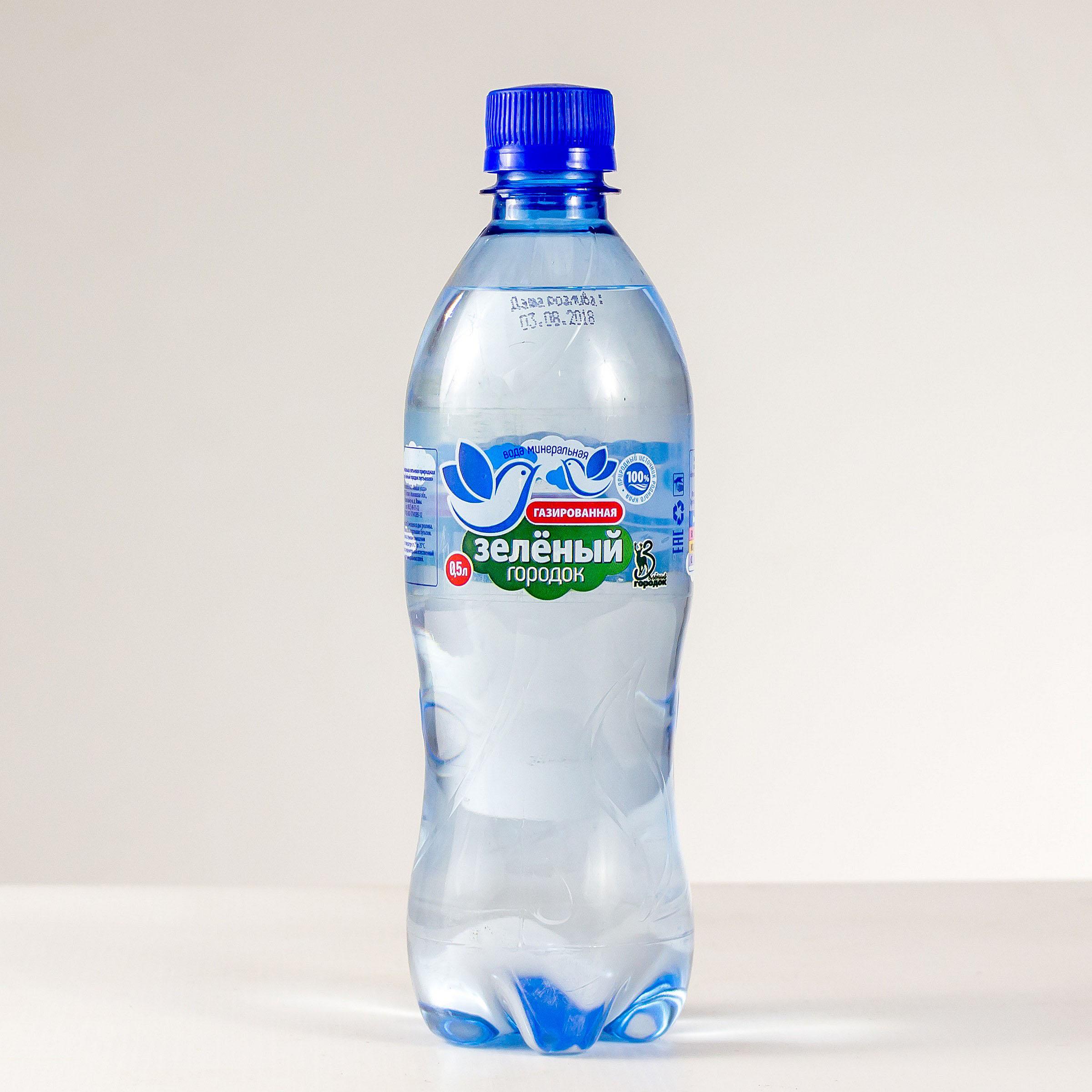 """Питьевая вода """"Зеленый городок"""" газированная"""