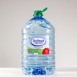 Вода питьевая бутилированная Зеленый городок 6л.